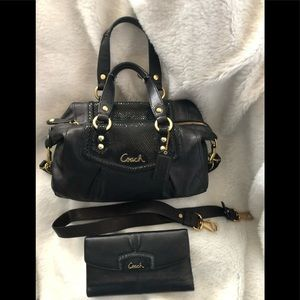 Coach Ashley small satchel and wallet